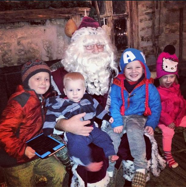 Engstrom kids Santa 2013